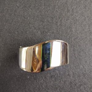 Silver clip bracelet